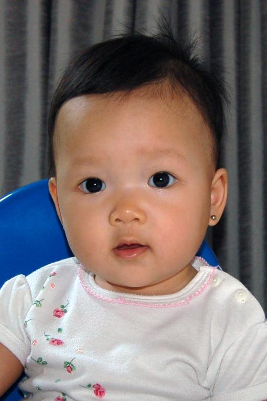 Nama: Cheryn, ibu: Yenni, tanggal lahir: 30 Juli 2010.